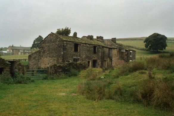 Derelict cottages at Lanehead, Rochdale, Lancashire. Photo by Dr. Neil Clifton