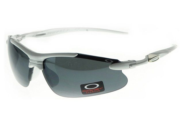 Cheap Pirce Oakley Half Jacket Sunglasses Silver Frame Gray Lens#Oakley Sunglasses