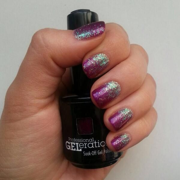 Jessica GELeration Opening Night with Time to Sparkle Opal glitter. Created Sarah Murphy.