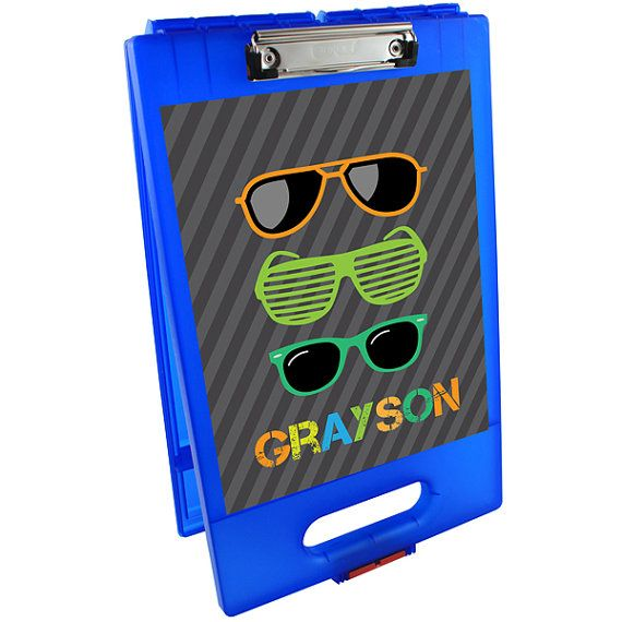 Cool Shades Clipboard Storage Case | Custom Clipboard Storage Case | Plastic…