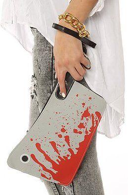 Bloody Cleaver Clutch Hatchet Knife Kreepsville 666 Halloween Horror Clutch Purse Handbag