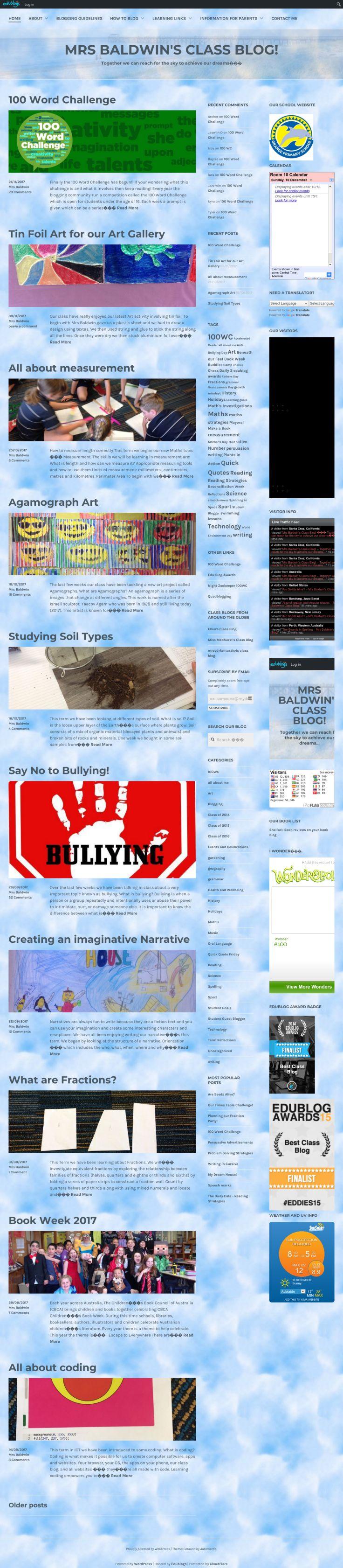 Mrs Baldwin's Class Blog | Grade 4 class blog in Australia | Edublogs