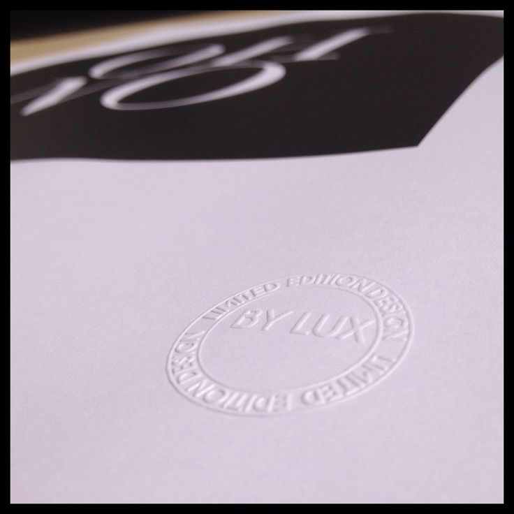 BY LUX Limited Edition stamp