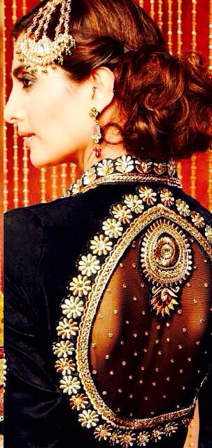 Stunning work, sexy back with full coverage- yes please!! #Indianwedding,#ShaadiShop