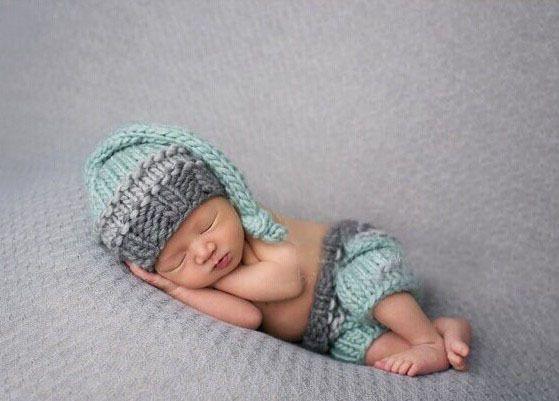 Roupas bebe fotografia tricots à la main nouveau-né bébé vert clair et gris ensembles de haute qualité bonnets et pantalon nouveau bébé de douche cadeau