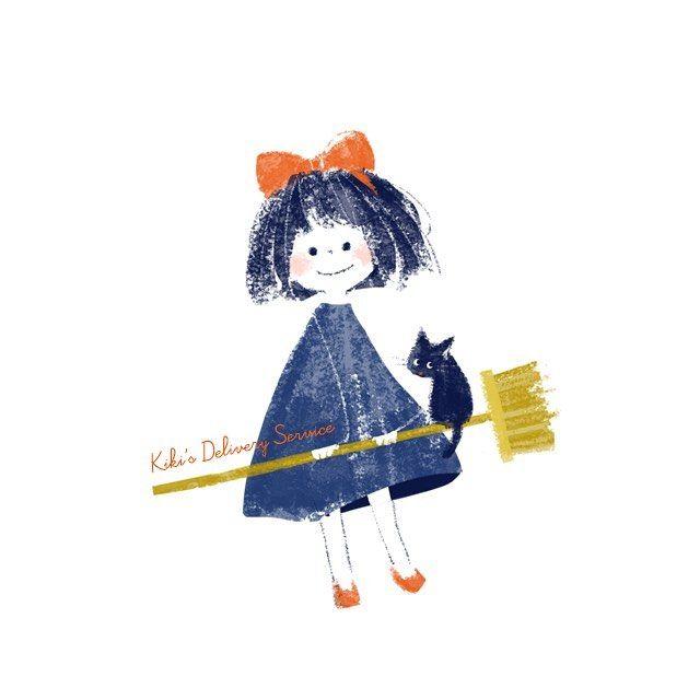 おちこんだりもしたけれど 私はげんきです Illustration イラスト 魔女の宅急便 ジブリ By Mojiwaraai 魔女 イラスト かわいい ジブリ イラスト かわいい ジブリ かわいい