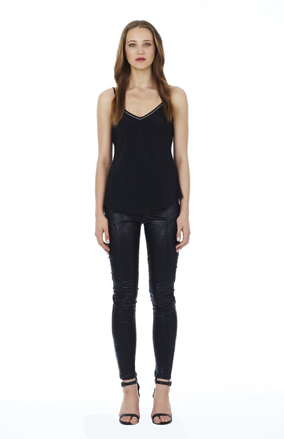 Flicker of Light Cami in Black with Lone Rider Jean in Black