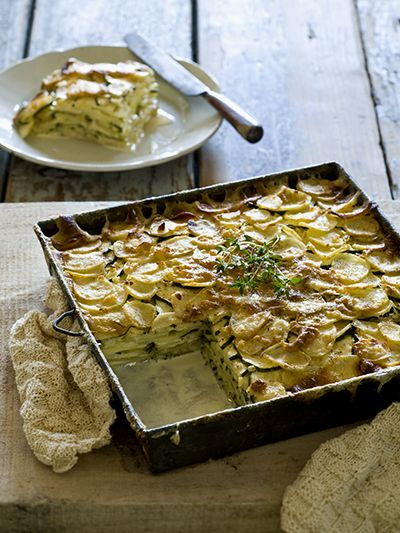 Aardappel/Courgette Gratin Dauphinoise