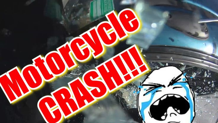 Motorcycle CRASH,  I crash into a u-turning car