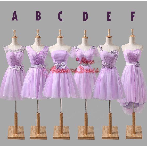 Six Style Mismatch Bridesmaid Dress Short by NewFamousDress, $105.00