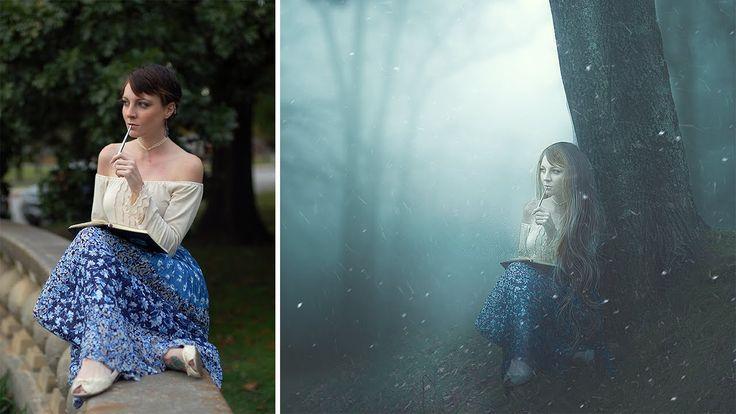 Photoshop Manipulation Tutorial Dream Foggy girl Photo Effects