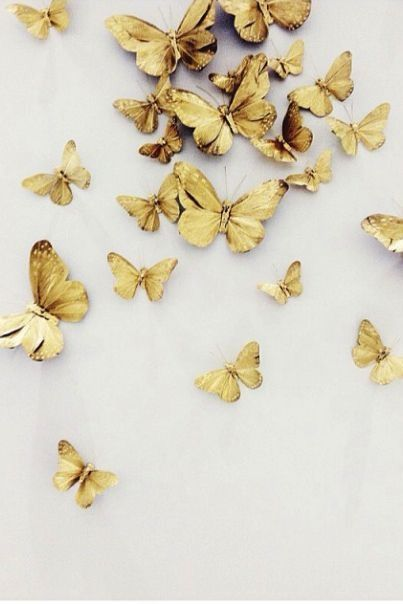 I ❤ COLORES NEUTROS ❤ COLORES NATURALES ❤ Gold butterflies