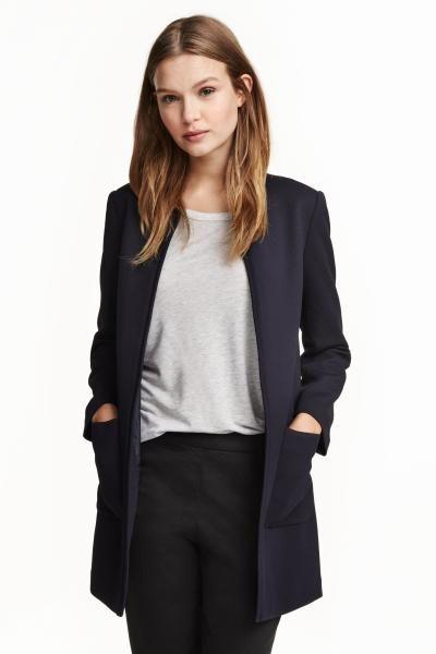 Manteau droit court