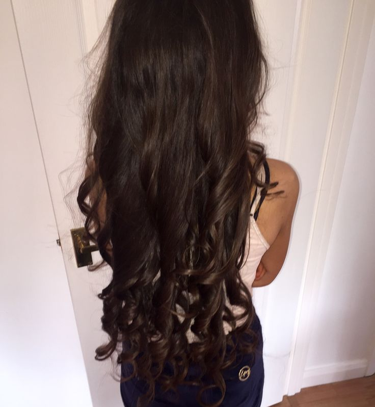 #long #hair #brunette #thick #prom #curly #curled #curler #wand #tiara