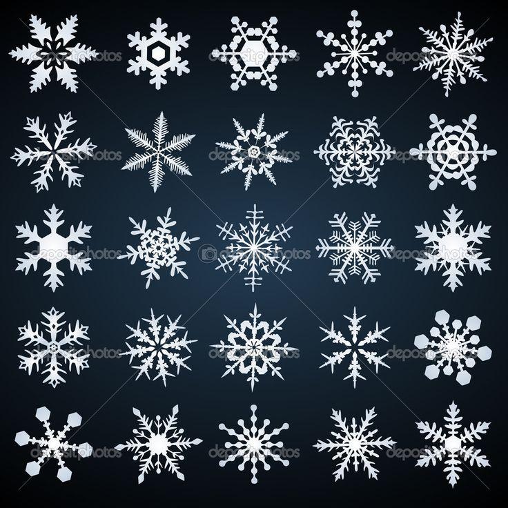 kryształ śniegu - wektor zestaw - Ilustracja stockowa: 2467719