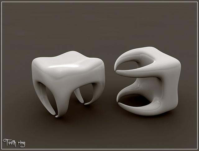 Tooth-ring by jan pycke, via Flickr