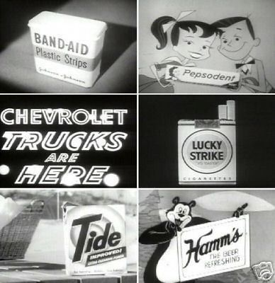 Television TV Commercials Classic 1940s To 1960s DVD