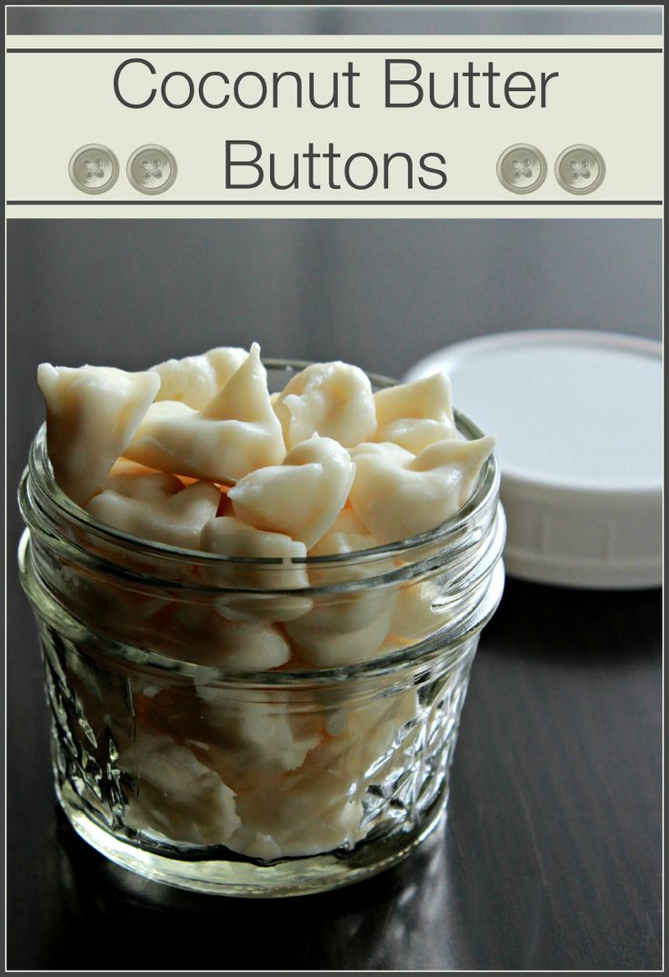 Coconut Butter Buttons - The Coconut Mama