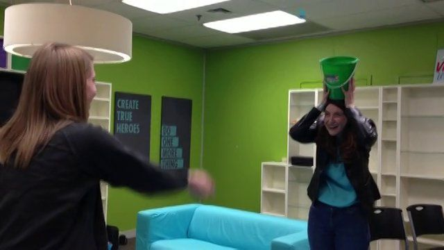 Peeps in a Nest game ~ Player 1 tosses as many Peeps into a nest/basket/bucket held on the head of Player 2 as they can in one minute.