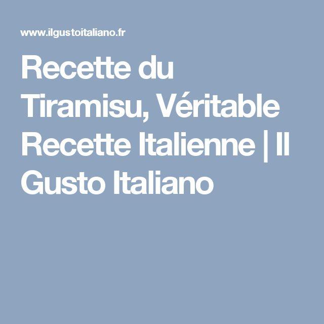 Recette du Tiramisu, Véritable Recette Italienne | Il Gusto Italiano
