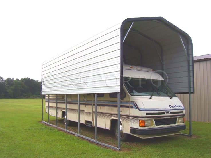 This Regular Style RV Carport is perfect to shelter your RV or travel trailer.