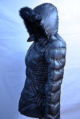женская XS Laundry Shelli Segal уголь Факс меха с капюшоном пуховик пальто новый с Ярлыками новый