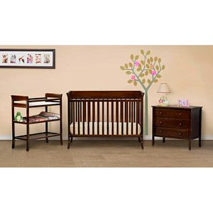 babymod ava fixed side crib with adjustible mattress height changing table and 3 drawer. Black Bedroom Furniture Sets. Home Design Ideas