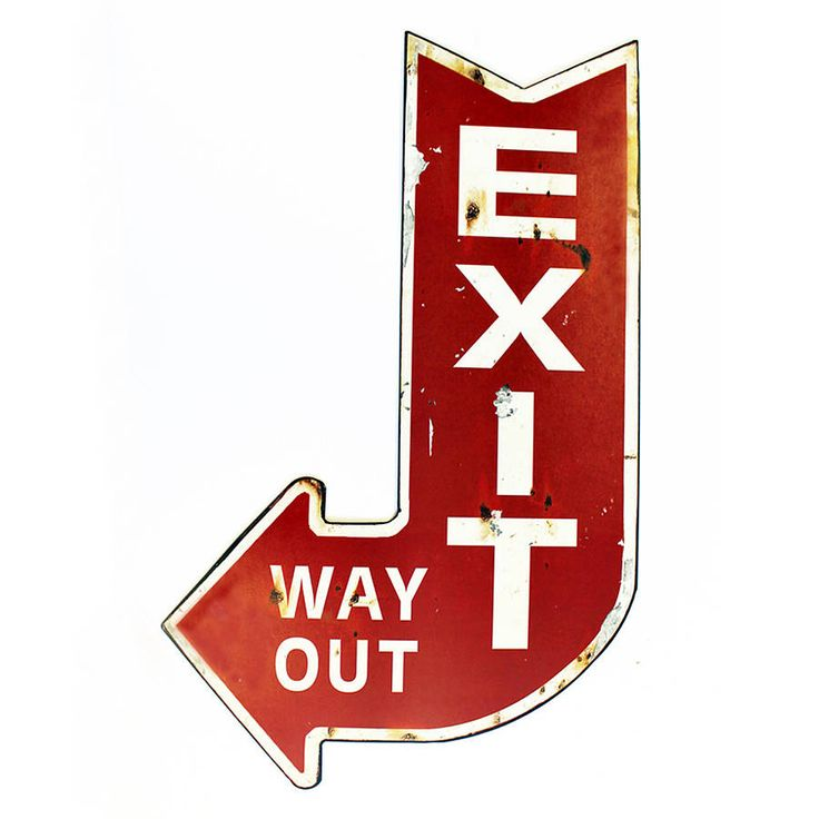 Metal Wall Plaque.This is a replica EXIT, WAY OUT sign, in metal with print overlay. A fabulous piece of wall art for a teenagers bedroom, your office, study, kitchen or any other room with a utilitarian industrial decor. Also an unusual piece for a cafe, bar, resturant etc. Two crocodile brackets to the rear allow for hanging.MetalSize: w35.5 x h58cm