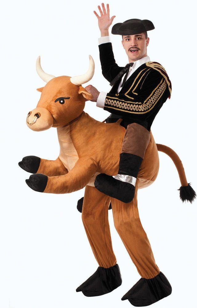 ride a bull adult costume halloween rider matador rodeo men women mascot new - Male Costumes Halloween