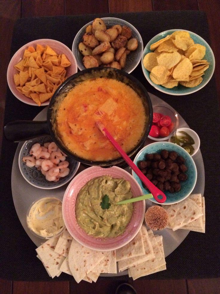 Mexicaanse kaasfondue Cheese fondue