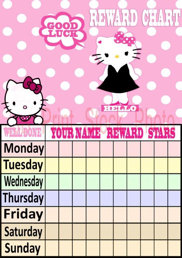 Kids Reward Calendar : Hello kitty reward chart dayjpg changes pinterest