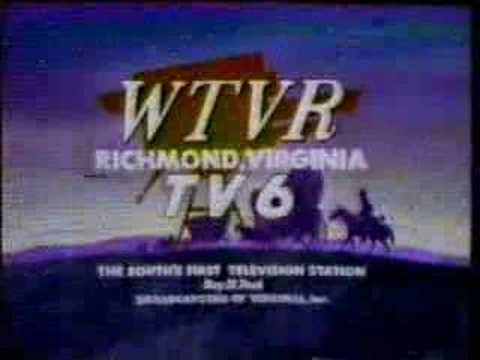 WTVR-TV 6 sign-on 1990