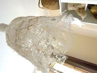 Lampa z firanki www.rekodzielo-art.pl
