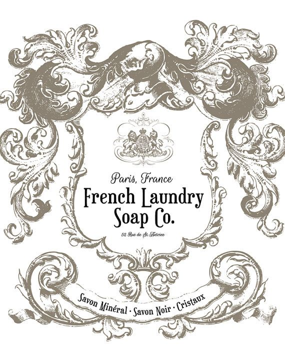 French Laundry Soap Company Print Laundry by letteredandlined
