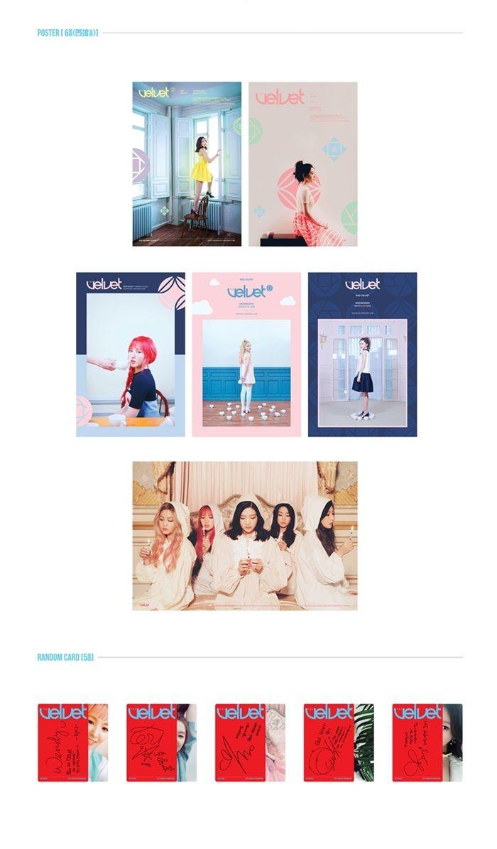 Red Velvet 2nd Mini Album - THE VELVET CD + Poster