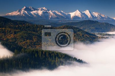 Fototapeta Jesień widok Tatr