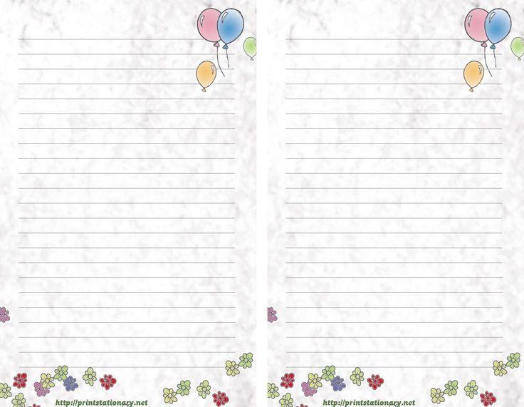 lined stationary template cvresumeunicloudpl - free printable lined stationary