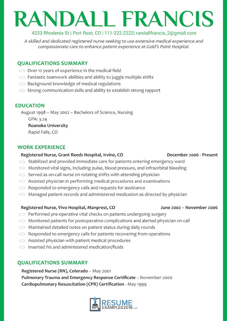 Nursing Resume Examples 2019 New Grad Pdf 2020 nursing