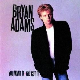 80s music - My first 45 I ever got was Bryan Adams Cuts like a Knife.