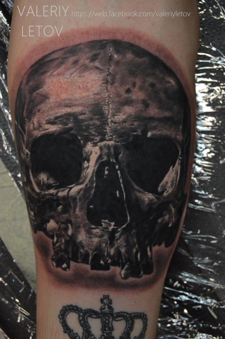 skull tattoo by ValeriyLetov