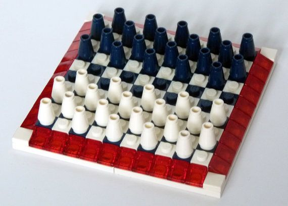 Checkers game in Lego parts