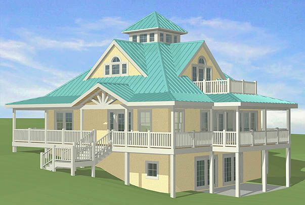Walkout basement house plans hillside house plans with for Lake house plans for sloping lots