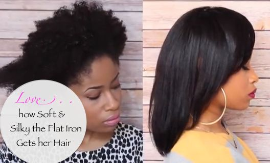 How To Flat Iron Black Natura Kinky Hair Natural Hair