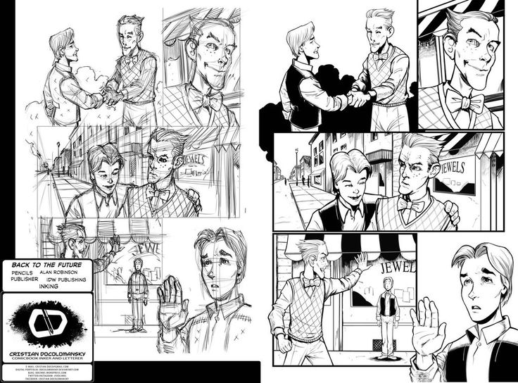Back To The Future: Citizen Brown # 04 Pg 17 Inks by Docolomansky on DeviantArt