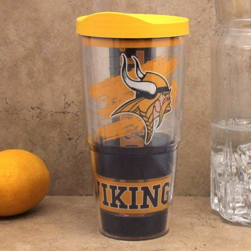 Nfl Tervis Tumbler Minnesota Vikings 24oz Wrap Pro With Travel Lid By