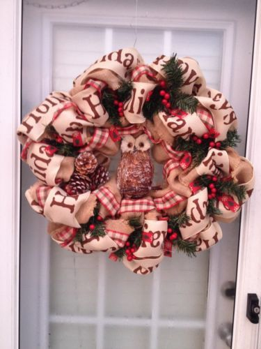 1. Wood and Burlap Natural Fall Wreath ~ Using nature's elements is perfect for decorating! Wood slices are used for the wreath and decorated with burlap and pine cones. 2. Neutral Rag-Tied Wreath ~ Make a neutral wreath perfect for any season using drop cloth, wire wreath form and.