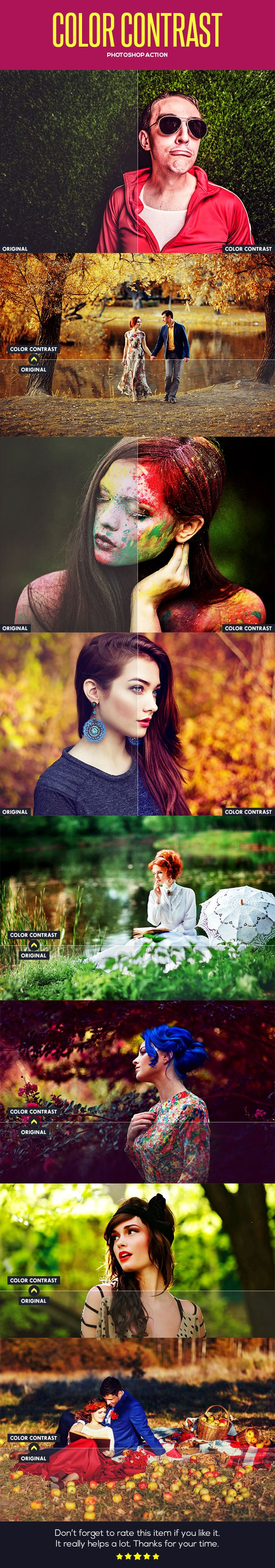 Color Contrast Photo Effects