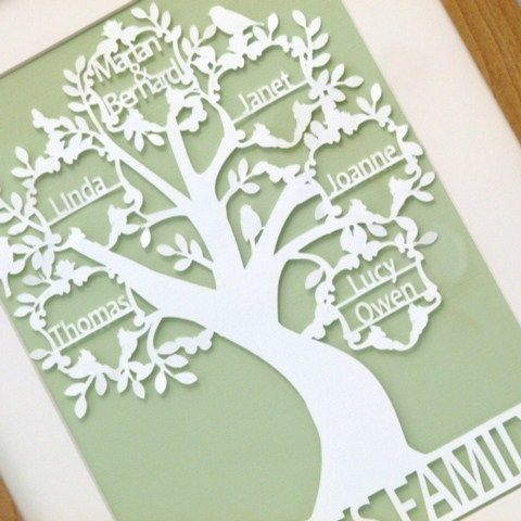 Family Tree Paper Cut Traditional unframed £35.00