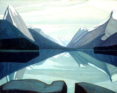 Lawren Harris (1885 - 1970) | Maligne Lake (1924), Jasper National Park  #atozchallenge