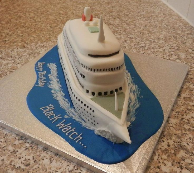 MS #Blackwatch #FredOlsen cruise liner Novelty #Cake #Beccles  more pictures on http://facebook.com/BecclesCrumbsofJoy…
